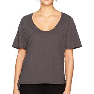 NWT LAmade Kaia Lace up Top Raven Small